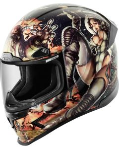 ICON Airframe Pro Full Face Helmet Pleasuredome 2 Gloss Black