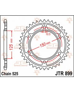 JT Sprockets Rear 42T 525 - JTR899.42