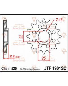 JT Sprockets Front 13T 520 - JTF1901.13SC