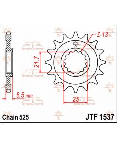 JT Sprockets Front 15T 525 - JTF1537.15