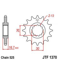 JT Sprockets Front 16T 525 - JTF1370.16RB