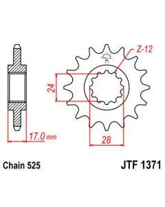 JT Sprockets Front 15T 525 - JTF1371.15RB