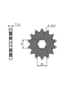 SUNSTAR SPROCKETS DRIVE SPROCKET 428 14T