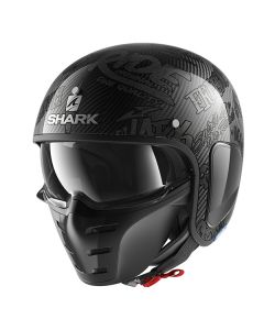 Shark S-Drak Freestyle Cup Helmet Carbon/Anthracite/Anthracite