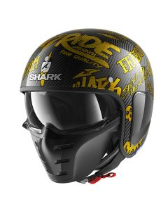Shark S-Drak Freestyle Cup Helmet Carbon/Gold/Gold