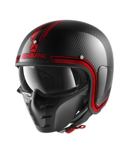 Shark S-Drak Vinta Helmet Carbon/Chrome/Red