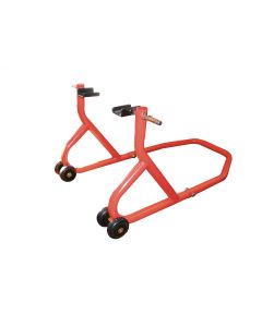BIKETEK REAR PADDOCK STAND SERIES 3- RED WITH CUP ADAPTORS