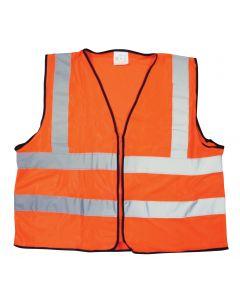 Fluoro Orange Reflective Bib-Vest