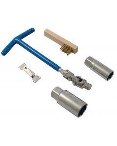 Spark Plug Maintenance 5Pcs Set Inc Brush And Gauge