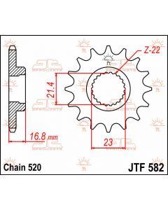 JT Sprockets Front 16T 520 - JTF582.16