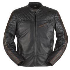 Furygan Legend Mens Leather Long Sleeve Jacket Black
