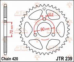 JT Sprockets Rear 36T 420 - JTR239.36
