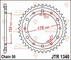 JT Sprockets Rear 44T 530 - JTR1340.44