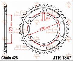 JT Sprockets Rear 48T 428 - JTR1847.48