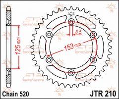 JT Sprockets Rear 39T 520 - JTR210.39