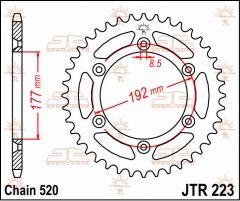 JT Sprockets Rear 53T 520 - JTR223.53