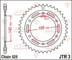 JT Sprockets Rear 42T 525 - JTR3.42