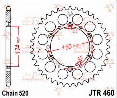 JT Sprockets Rear 42T 520 - JTR460.42