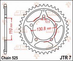 JT Sprockets Rear 44T 525 - JTR7.44