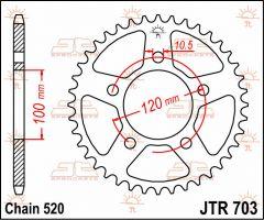 JT Sprockets Rear 47T 520 - JTR703.47