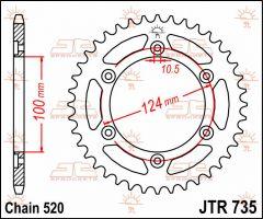 JT Sprockets Rear 42T 520 - JTR735.42