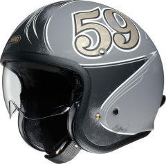 Shoei J.O. Open Face Helmet Gratter-Ciel  Slate