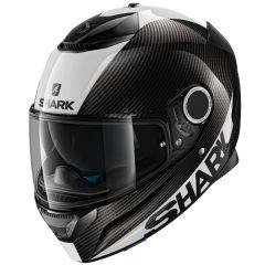 Shark Spartan Carbon Full Face Helmet Skin  White/Silver