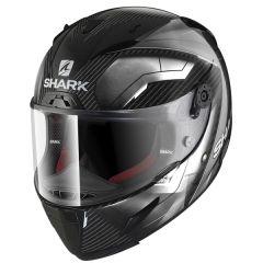 Shark Race-R Pro Deager Helmet Carbon/Chrome/White