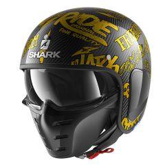 Shark S-Drak Freestyle Cup Helmet Carbon/Gold/Gold