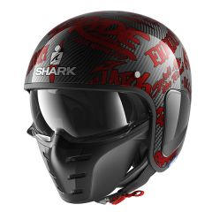 Shark S-Drak Freestyle Cup Helmet Carbon/Red/Red
