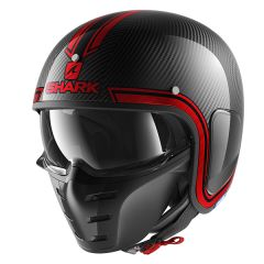 Shark S-Drak Vinta Helmet Carbon/Chrome/Red