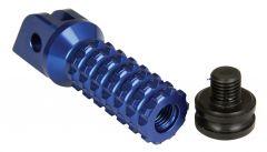 ALLY FOOT PEGS WITH SLIDER (PAIR) SUZUKI FRONT BLUE SU11F