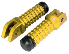ALLY FOOT PEGS WITH SLIDER (PAIR) YAMAHA FRONT GOLD YA11F