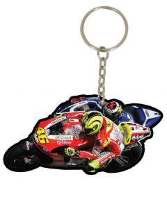 Motogp Pvc Keyfob 2011 Rossi #46 Knee Down