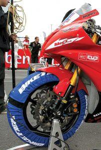 Biketek Standard Tyre Warmers Uk 3 Pin - 200/55-17 Rear 120/70-17 Front