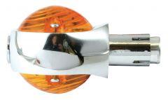 INDICATOR CUSTOM BULLSEYE 22MM AMBER LENS (1 PC)