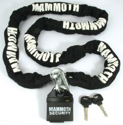 Mammoth Lock And Chain 10X10X1800Mm Chain / Closed Shackle Lock