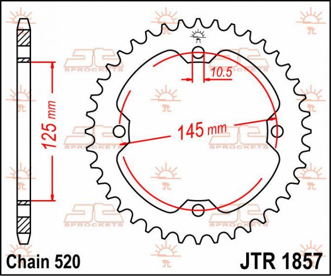 NEW JT SPROCKETS 37T YAMAHA STEEL REAR SPROCKET  JTR1857.37