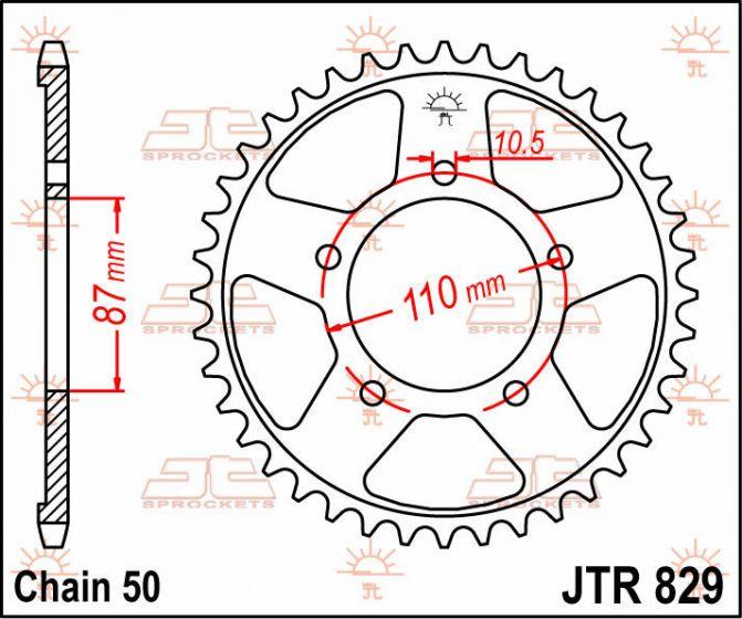 JT Rear Sprocket 47T 530P JTR829.47 Steel Suzuki GSX 600 F 1999