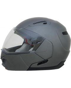 AFX FX-140 Full Face Modular Helmet Solid Gloss Gray
