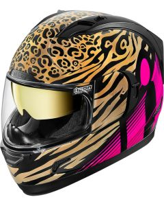 ICON Alliance GT Full Face Helmet Shaguar Gloss Pink/Gold