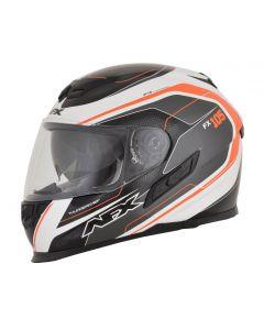 AFX FX-105 Street Helmet Thunderchief Gloss Black/White/Orange