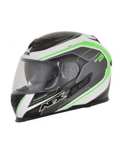 AFX FX-105 Street Helmet Thunderchief Gloss Black/White/Green