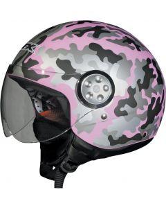 AFX FX-42 3/4 Helmet Camo Flat Pink