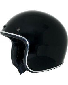 AFX FX-76 Open Face Helmet Solid Gloss Black