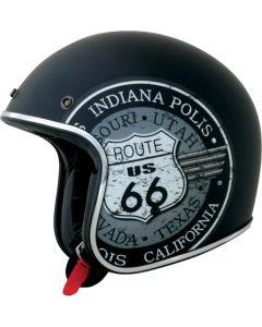 AFX FX-76 Open Face Helmet RT66 Flat Black