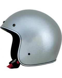 AFX FX-76 Open Face Helmet Solid Metal Flake Silver