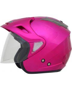 AFX FX-50 Open Face Helmet Solid Gloss Pink