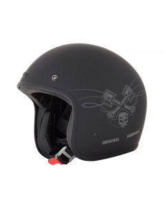 AFX FX-76 Vintage Jet Helmet Raceway Matte Black/Orange