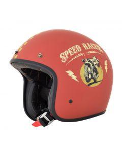 AFX FX-76 Vintage Jet Helmet Speed Racer Matte Rust/Gold
